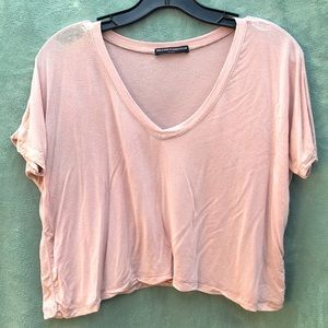 Brandy Melville Lightweight Crop Shirt